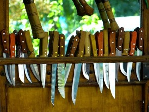 wide range of knives